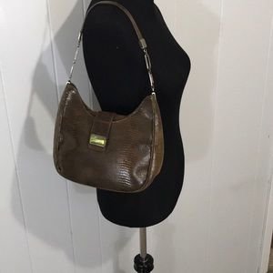 Stuart Weitzman Brown Leather Shoulder Bag